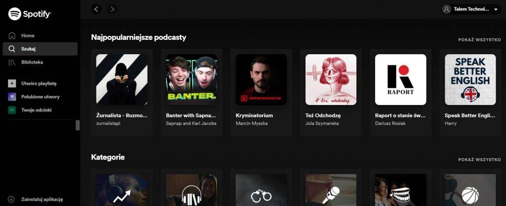 Popularne podcasty